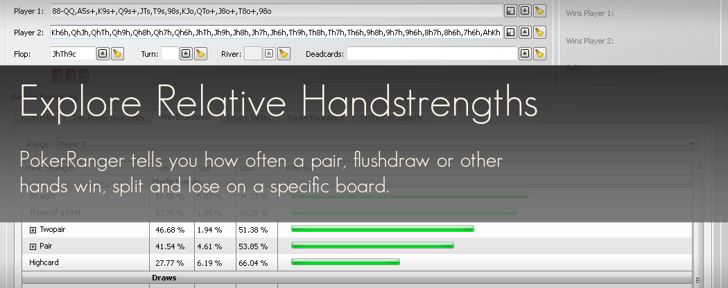 Explore Relative Handstrengths with PokerRanger