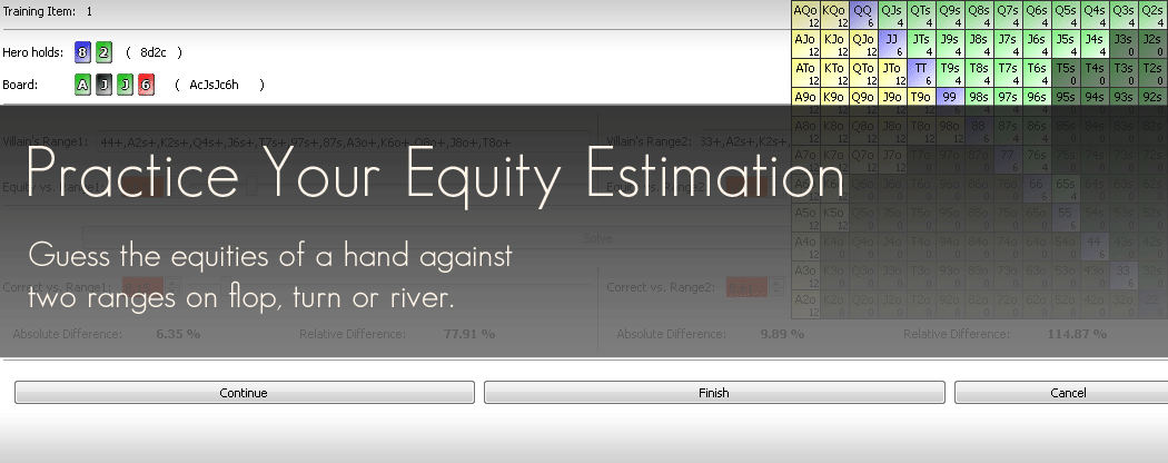 Practice Your Equity Estimation with PokerRanger